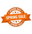 spring sale ribbon spring sale round orange sign vector image vector image