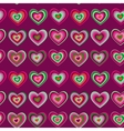 striped heart on purple background Valentines day vector image vector image