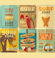 surf posters vector image vector image