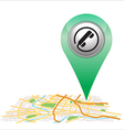 telephone pin pointer on map location vector image