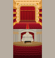theater stage with curtains entertainment vector image vector image