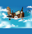 time to travel sale poster for advertisement with vector image vector image