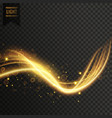 transparent golden light effect vector image vector image