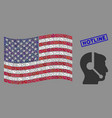 usa flag stylized composition call center vector image vector image
