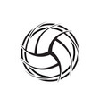 volleyball outline abstract symbol background vector image vector image