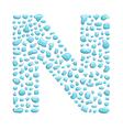 water letter n vector image