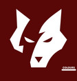 white fox boss vector image vector image