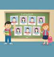 yearbook for school about schoolgirl and schoolboy vector image vector image