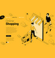 yellow and black ink draw flat design isometric vector image vector image