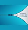zipper buttoned open vector image vector image