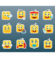 Kids smile stickers vector image