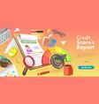 3d conceptual credit score vector image