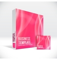 3d identity box with abstract red lines cover