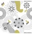 abstract garden-geometric flowers vector image