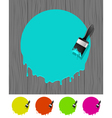 Background with paintbrush vector image vector image