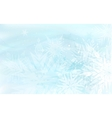 beautiful blue winter background with snowflakes vector image vector image