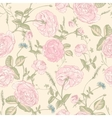 beautiful vintage seamless roses background vector image vector image