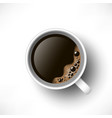 black coffee cup top view vector image vector image
