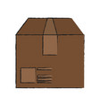 box cardboard isolated vector image vector image