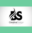 bs b s creative brush black letters design with vector image vector image
