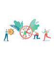 business deadline concept businessman vector image vector image