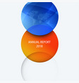 business design of orange blue abstract vector image