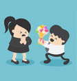 business woman fear love from male vector image vector image