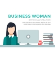 Business woman silhouette Businesswoman work vector image vector image