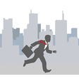 Busy business person hurry city rush vector image