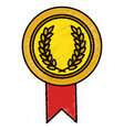 championship medal isolated icon vector image vector image
