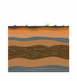 clay layers of earth vector image