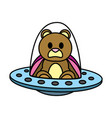 color bear teddy cute toy with rattle vector image vector image