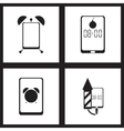 Concept flat icons in black and white smartphone vector image vector image