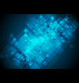 dark blue squares and arrows tech abstract vector image