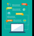 Ecology and internet flat design info graphics vector image