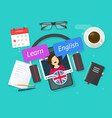 education concept learn english online on vector image