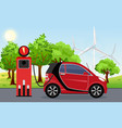 electric car red color on vector image vector image
