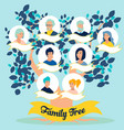 family tree photos relatives generations in vector image vector image