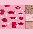 fashion cosmetics accessories seamless pattern vector image vector image