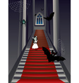 Fashion Zombie Girl on Stairs vector image vector image