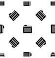 file folder pattern seamless black vector image vector image