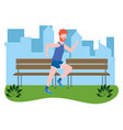 fitness sport train cartoon vector image vector image