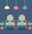 Flat Design Interior Vintage Chairs vector image vector image