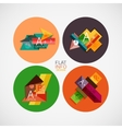 Flat infographic design concept set vector image