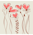 Floral hearts collection vector image vector image