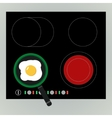 Fried egg in the pan vector image