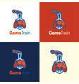 game train logo and icon vector image vector image