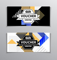 Gift or discount voucher template with modern vector image vector image