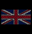 great britain flag mosaic of space star icons vector image vector image