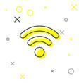 grey wi-fi wireless internet network symbol line vector image vector image